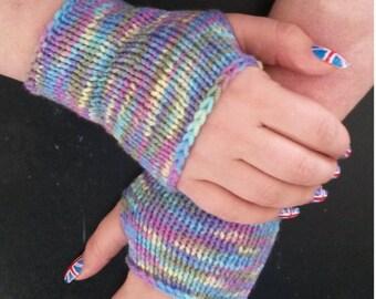 Pastel rainbow wristers