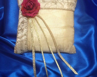 Beauty and the Beast Inspired Ring Pillow