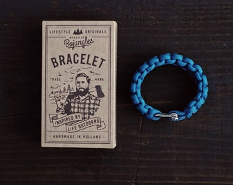 Handmade Paracord Lumberland Bracelet/Armband Mens/Womens Carribean Blue
