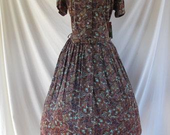 1950s/1960s dress vintage print dress
