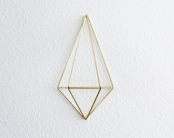 The Pear Diamond Wall Sconce | Brass Air Plant Holder, Modern Minimalist Geometric Ornament