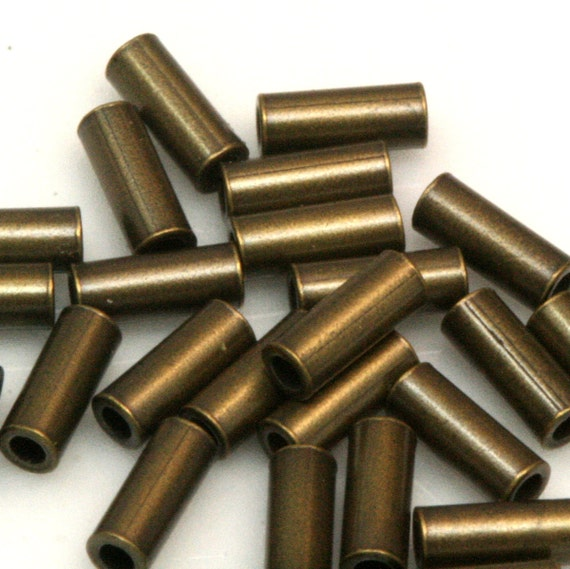 200 Pcs 5 x 2 mm (hole 1 mm ) antique brass tone copper tube industrial copper charms, pendant, findings spacer bead bab1 ttt02
