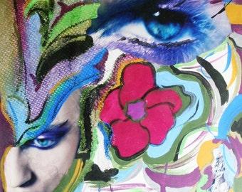 Art Print Mixed Media Collage - Chaos