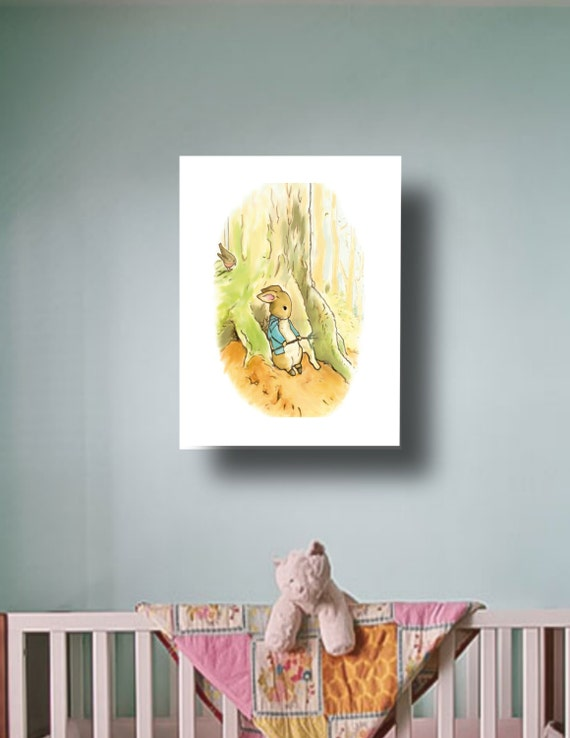 Peter Rabbit Nursery Baby Art Print High Ppi By Glorioustymes