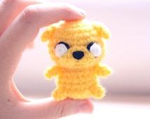 Chibi Jake amigurumi - adventure time ! as keychain or just the mini plush you can choose