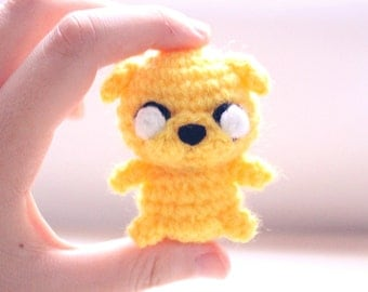 Chibi Jake amigurumi - adventure time ! as keychain or just the mini plush you can choose