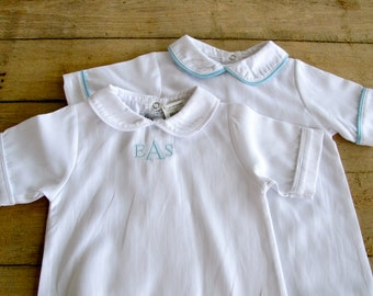 Baby Boy Day Gown with monogram
