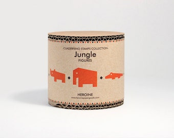 Jungle stamps set