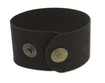 "Black Leather Cuff 1.5"" Wide, Genuine Leather Wristband, Cuff Blank, Hand Stamping Supplies"