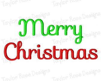 Merry Christmas 2 Machine Embroidery Design 4x4 5x7 6x10 INSTANT DOWNLOAD