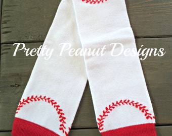 Baseball Baby Leg Warmers - Baby Leg Warmers - Girl or Boy - Match Your Team!
