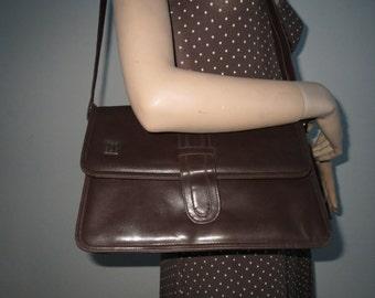 Bag leather look shoulder bag bag Brown vintage