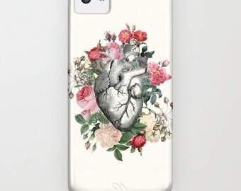 Roses for her Heart Phone Case, iphone 6,  4, 5 Samsung S3, S4 S5, love, in love, valentine gift for her cases, protective, gadgets, tech