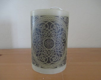 Celtic Knot Pillar Candle