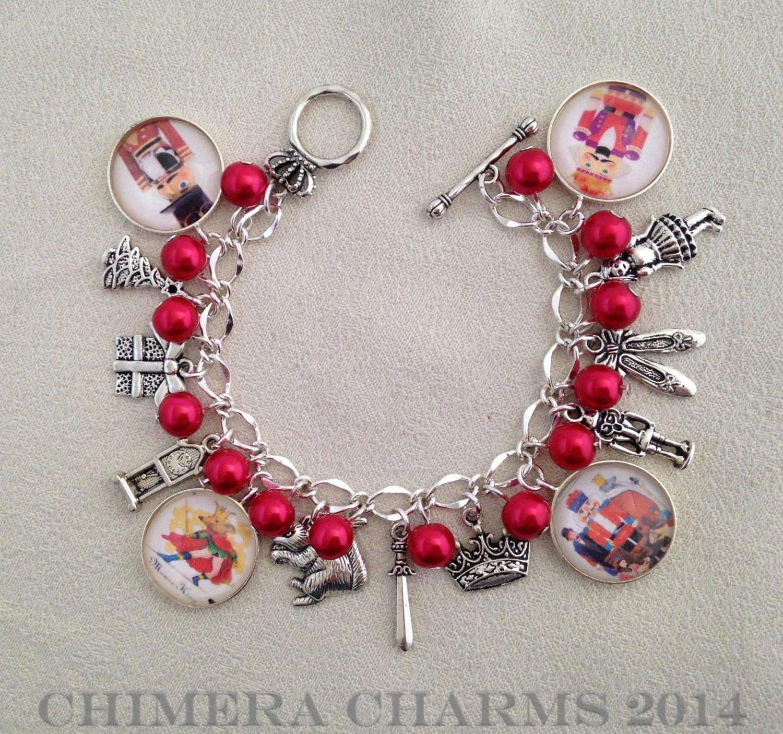 Ballet Charm Bracelet: Christmas Nutcracker Ballet Mixed Charm Bracelet By