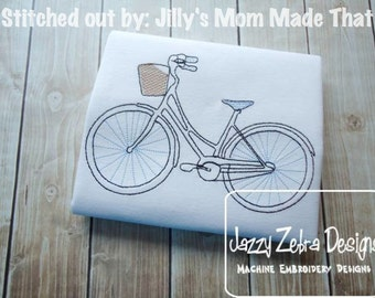 Bicycle Sketch Embroidery Design