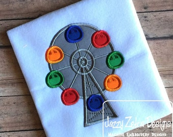 Ferris Wheel Applique Design