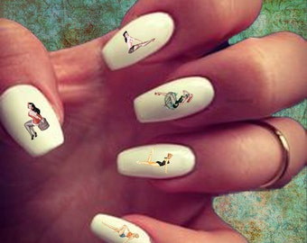 60 Nail Decals Alberto Vargas Pin-Up Girls