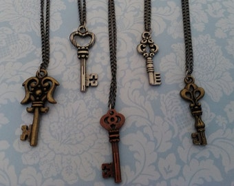 Small Key Charm Necklace