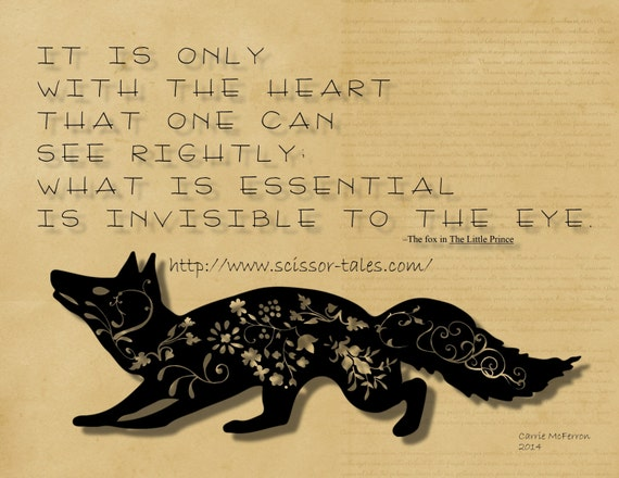 Items Similar To The Little Prince Quote Inspirational: Items Similar To Instant Download Of Original Typography