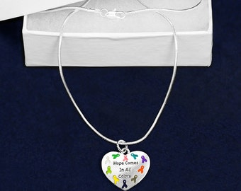 Hope Multi Colored Ribbon Necklace (RETAIL) (RE-N-84-MC)