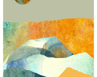 Orange Moon series, digital print, 5x7+