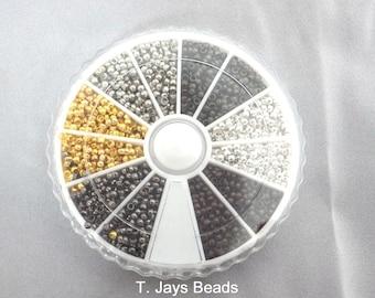 3000 x  Brass Round Crimp End Beads 2mm