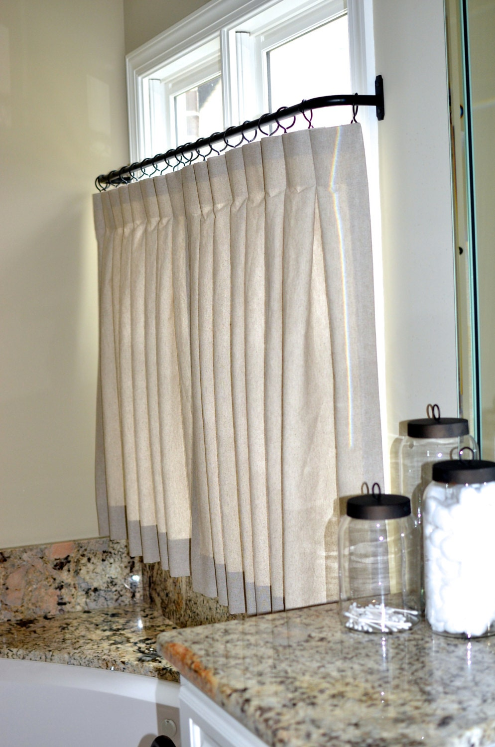 Cafe curtains for bathroom -  Cafe Curtains For Bathroom Made To Order Zoom