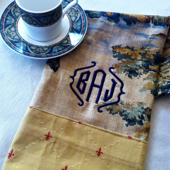 Personalized Kitchen Towel Monogrammed Hand By EmbellishedBabe