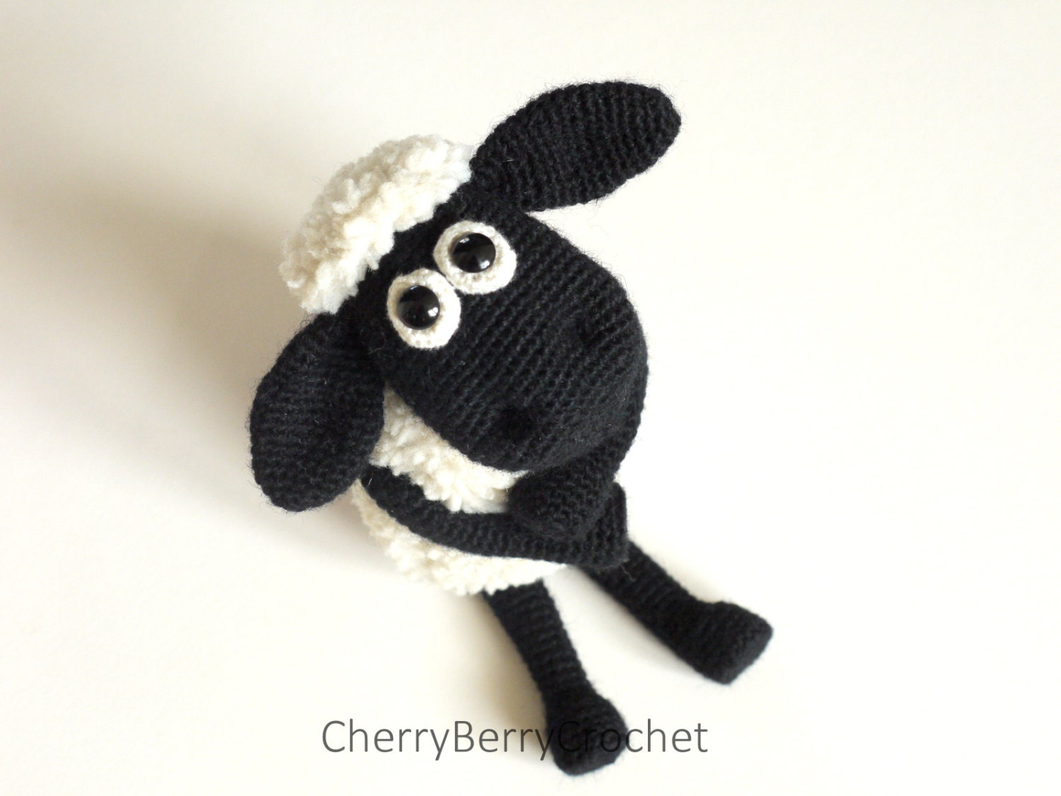 Pattern For Knitted Baby Hats : Shaun the Sheep Crochet/Sewing Pattern