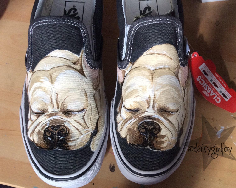 Custom Hand Painted Pet Dog Cat Portrait Vans Shoes