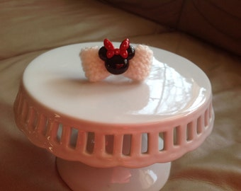 Knitted bow Minnie Mouse ring