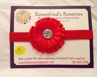 Red ribbon swirl headband