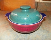 DENBY Harlequin 1.5 Quart Round Covered Casserole~RESERVED  for Rosemarie~