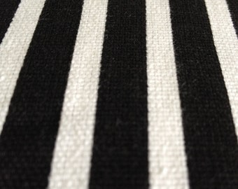 "20""x26"" Pillow sham in black and white stripe with a 2"" flap border"