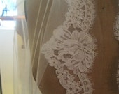 Rose Lace Swatch,  Rose Scallop Lace Swatch