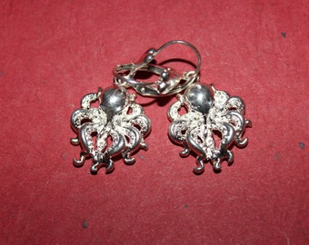 Silver Octopus earrings