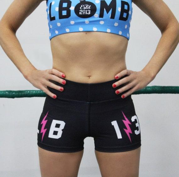 SALE L-bomb Workout Bike Gym Shorts Yoga MMA Size L