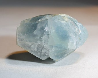 Uncommon Double Terminated Large Sky Blue Celestite Crystal