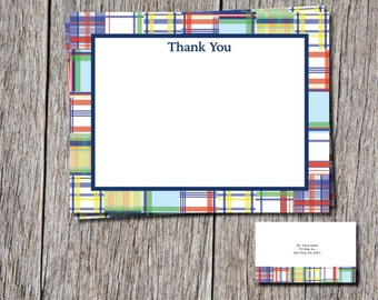 Madras thank you cards