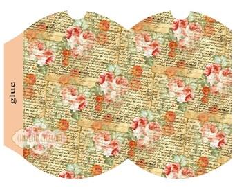 SUMMER - Printable Pillow Box - Digital Image Sheet Download Box - Print and Cut