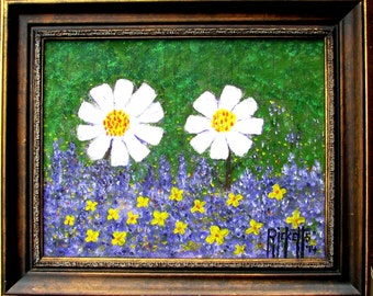 COLOR OF SPRING Original Painting Framed 18x15 No. 504