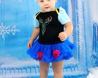 Baby girls little sister costume petti tutu halloween dress embroidered tiara
