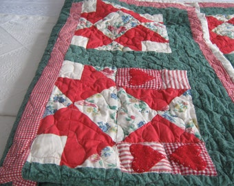 A Pair Of Hand Made Quilts.