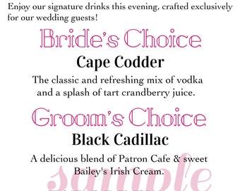 NAUTICAL Signature Drink Menu CUSTOMIZABLE
