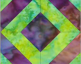 Celtic Mosaic Paper Foundation Quilting Block Pattern