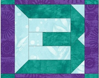 Number 3 Paper  Foundation Quilting Block Pattern