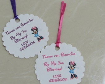 Personalized Favor Tags 2 1/2'', Thank You tags, Favor tags, Gift tags, Birthday Party Minnie Mouse