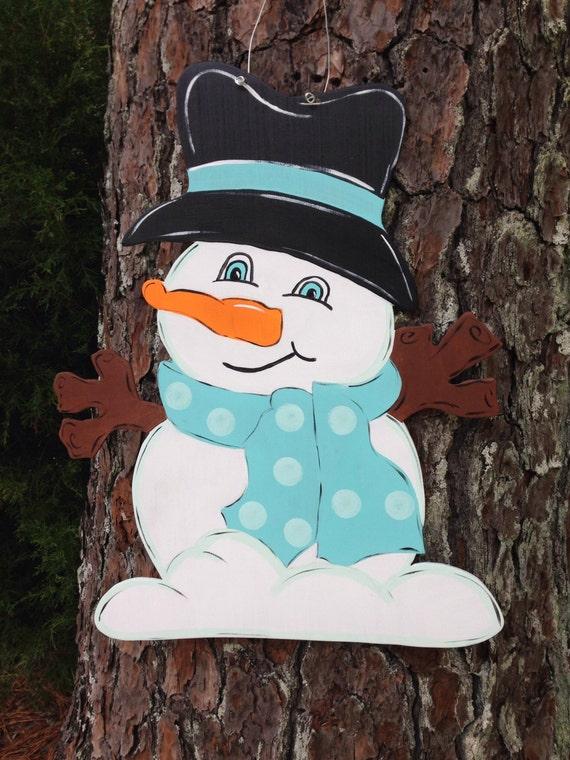 Snowman Door Hanger Winter Door Hanger Christmas Door