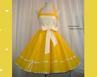 Petticoat dress dance dress Maritim yellow